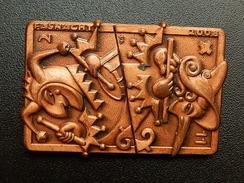 Broche -  CARNAVAL DE BALE  Suisse - FASNACHT 2008  - Cuivre - Jetons & Médailles