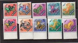 Animals Complete Set For Ordinary Mail MNH Michel 194-203 (b56) - Bhutan