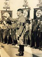 Militaria WW2  - Adolf Hitler à Un Rassemblement Nazi - 1939-45