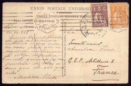 Postal Enviado De LISBOA Para CEP Artilharia 8 / FRANCE. Cancel CENSURA + CEP WWI Ww1 War Military Mail 1918 - Poststempel (Marcophilie)