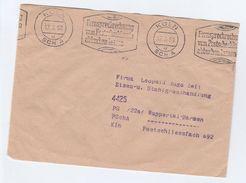 1958 Koln GERMANY COVER Fernsprechrechnung Vom Postscheckkeule Abbuchen Lassen TELEPHONE SERVICE SLOGAN - Telecom