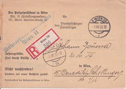 Deutsche Wehrmacht - Wehrbezirks-Kommando Wien II - Aushebung - Einschreiben - 1939 (29384) - Documents
