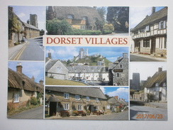 Postcard Dorset Villages Multiview Moreton Burton Bradstock Corfe Castle Cerne Abbas Cranborne My Ref B21407 - Other