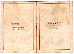 ALMANACH - CALENDRIER  1884   Par KATE GRENAWAY - Calendriers