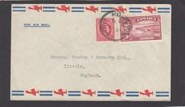 LETTRE DE KINGSTON POUR LINCOLN(GR. BRETAGNE),1940. - Jamaica (...-1961)
