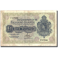 Falkland Islands, 1 Pound, 1977, KM:8c, 1977-12-01, TB+ - Falklandeilanden
