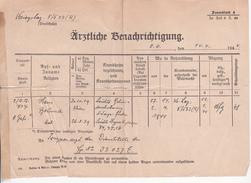 Deutsche Wehrmacht - Kreigslazarett 5/533 - Ärztl. Benachrichtigung (29392) - Dokumente