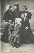 Etude De Différents Costumes Ile De Batz Près Roscoff. Costume/Coiffe/ Folklore. Types Bretons. - Ile-de-Batz