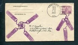 1933  SPECIAL FIRECRACKER CANCEL FROM CRACKER, KENTUCKY - Unclassified