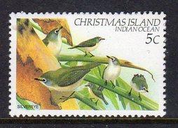 CHRISTMAS ISLAND - 1982 5c DEFINITIVE BIRD STAMP FINE MNH ** SG 156 - Christmas Island