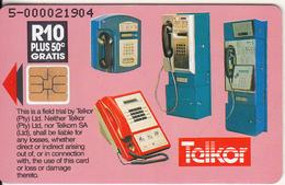 SOUTH AFRICA - Telkor Cardphones, Pink Faces, Telkor Trial Card, Tirage 2000, Used - Sudafrica