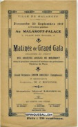 PROGRAMME MALAKOFF 92240 PALACE 30 SEPTEMBRE 1917 GARDIEN DE PHARE EN WAGON PEHEU DALBRET GEORGIUS - Programmes
