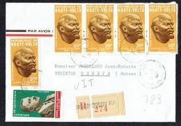 1971  Lettre Avion Recommandée Pour La Suisse  Lénine X5, Nasser - Haute-Volta (1958-1984)