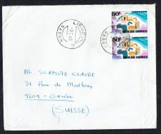1968  Lettre Pour La Suisse Europafrique 1967 X2 - Gabon (1960-...)
