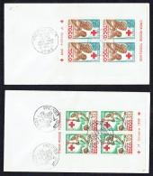 1959  Croix Rouge Togolaise Valeurs 30 Et 50fr En Mini Feuilles De 4 - FDC - Togo (1960-...)