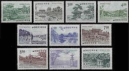 SOUTH KOREA-STAMPS-1964-VIEWS,TEMPLE,GATE,POND,PAVILION,ETC- - Korea (...-1945)