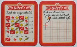 Sous-bock WIEL'S Zoek De Cijfersleutel T (jeu) Trek Om Beurt Een Lijntje Bierdeckel Bierviltje Coaster (N) - Sous-bocks