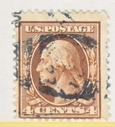 U.S. 334    Perf 12  (o)   Double Line Wmk.  1908-9 Issue - Used Stamps