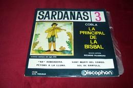 FOLKLORE CATALAN  ° SARDANAS 3   RICARDO VILADESAU   COBLA LA PRINCIPAL DE LA BISBAL     4 TITRES - Collections Complètes