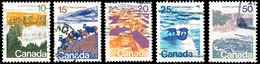 Canada (Scott No. 594-98 - Paysage / Landscape) (o) Perf. 12.5 X 12.0 Série / Set - 1952-.... Reign Of Elizabeth II