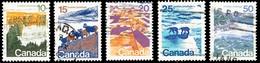 Canada (Scott No. 594a-98a - Paysage / Landscape) (o) Perf. 13.3 X 13.3 Série / Set - 1952-.... Règne D'Elizabeth II