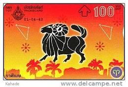 Thailand Optical L&G Phonecard  Kat. 573 Horoskop Zodiak Stier - Telefonkarten