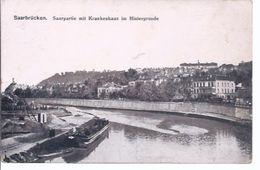 Saarbrücken - Saarpartie Mit Krankenhaus Im Hintergrund      **3494** - Saarbrücken