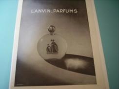 ANCIENNE PUBLICITE LANVIN-PARFUM 1932 - Fragrances