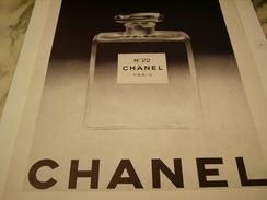 ANCIENNE PUBLICITE PARFUM CHANEL BOIS DES ILES 1949 - Fragrances