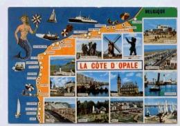 62 LA COTE D'OPALE CARTE MULTIVUES - Cartes Géographiques