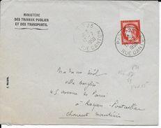 1950 - YVERT N° 830 SEUL SUR LETTRE De PARIS => ROYAN - Marcophilie (Lettres)