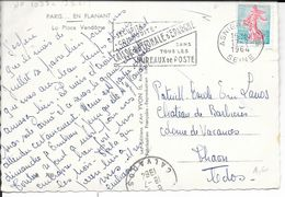SEINE 75 - ASNIERES - FLAMME N° 1038c  - VOIR DESCRIPTION - 1964   BELLE FRAPPE - Marcophilie (Lettres)