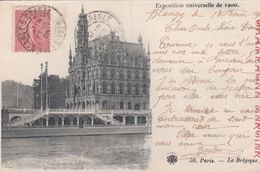 Cp , PUBLICITÉ , CHAMPAGNE MERCIER , Exposition Universelle De 1900 , Paris , La Belgique - Publicité