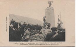 ERMONT  14 NOVEMBRE 1920 INAUGURATION DU MONUMENT AUX MORTS - Ermont
