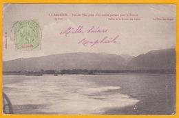 1916 - La Reunion - CP De Saint Denis Vers La Rivière Par Fronsac, Gironde - Affrt 5 C  - L'île Prise D'un Navire - Réunion (1852-1975)