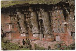 Three Worthies (Holy Images)  Of The Huayan School– Dazu Rock Carvings, Chongqing, China - China