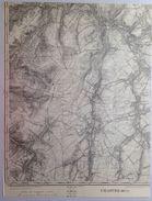 CARTE D ETAT MAJOR 40/5 De 1904 CHASTRE CORTIL-NOIRMONT GENTINNES TILLY MELLERY SAINT-GERY VILLEROUX HEVILLERS S680 - Chastre