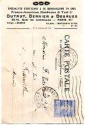 75  DUTRUT , BERNIER & DESRUES   Spécialités D' Outillage & De Quincaillerie En Gros . Franco-Américan Hardware . 68-70 - Francia
