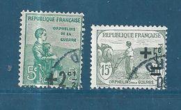 France Timbre De 1922 Type Orphelins  N°163/64  Oblitérés - France