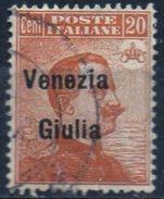 PIA - ITALIA - VENEZIA  GIULIA  - 1918-19 : Francobollo Di Italia Sovrastampato -  (SAS   23) - Venezia Giulia
