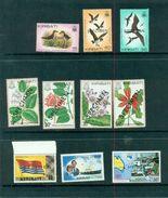 Kiribati SPECIMEN 10 Values  Flowers Fleurs Birds Oiseaux Lady Diana Flag Ausipex MNH ** Neuf - Kiribati (1979-...)