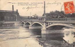 03-MONTLUCON- LE PONT DES ILES ET USINE DES FERS CREUX - Montlucon
