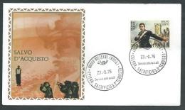 1975 ITALIA FDC FILAGRANO GOLD SALVO D'ACQUISTO NO TIMBRO ARRIVO - KI8 - FDC