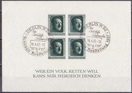 Hmö_ Deutsches Reich - Mi.Nr. Block 8 - Gestempelt Used - Sonderstempel - Blocs