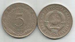 Yugoslavia 5 Dinara 1979. VF KM#58 - Yugoslavia