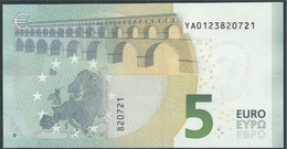€ 5 GREECE  Y001 D3  DRAGHI  UNC - 5 Euro