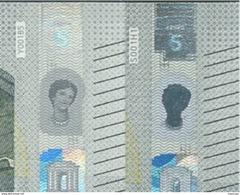 € 5 ITALY  CURIOSITY - FACE OF EUROPA IS DARK - UNC - 5 Euro