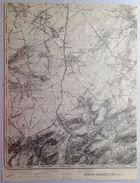 CARTE D ETAT MAJOR 41/7 De 1904 JEHAY-BODEGNEE VERLAINE HANEFFE VILLERS-LE-BOUILLET JEHAY AMAY VINALMONT WARNANT S683 - Verlaine