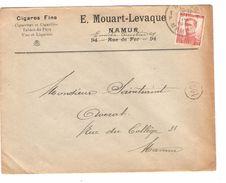 TP 118 Albert Pellens S/L.En-Tête Mouart-Levaque Cigares Fins Tabacs Du Pays C.Namur 21/4/1913 V.E/V JS43 - Tabac