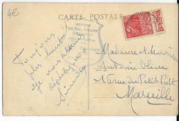 """1931 - EXPO COLONIALE Avec BANDE PUB """"BENJAMIN"""" ISSUE De CARNET Sur CP De COL IZOARD => MARSEILLE - Advertising"""